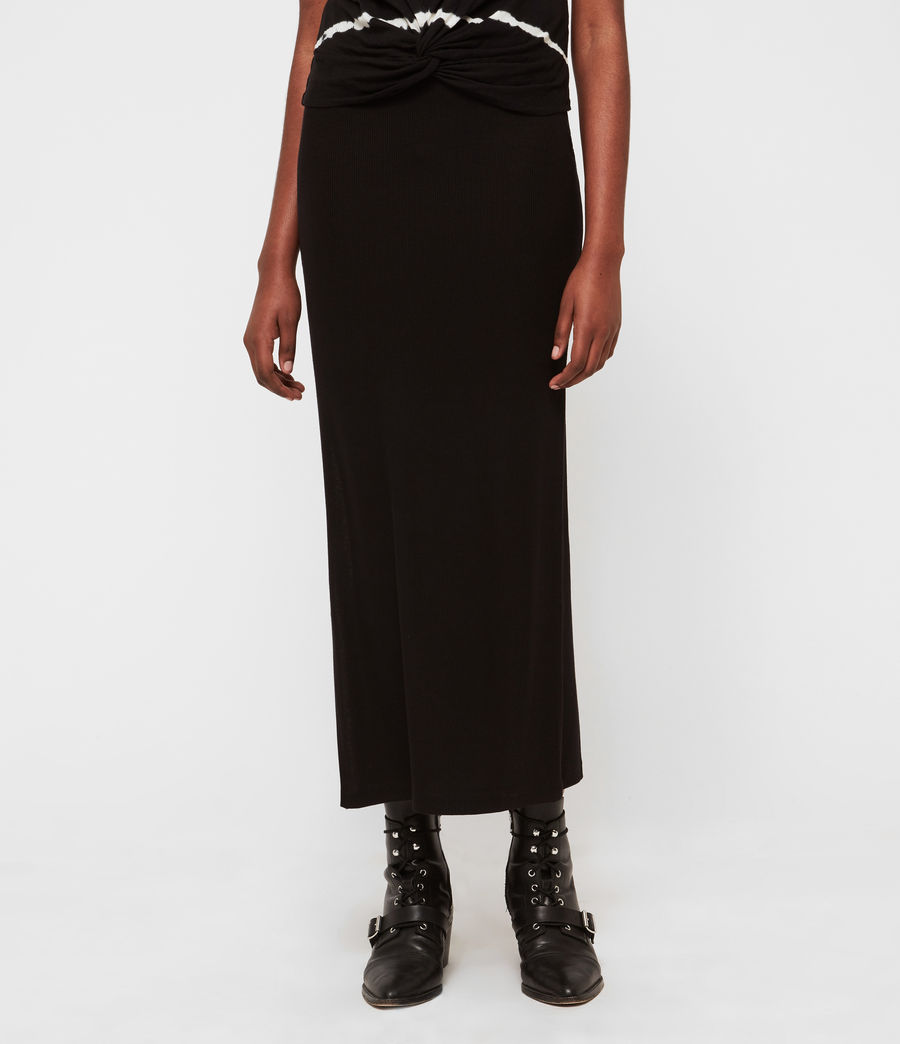 Womens Rina Maxi Skirt (black) - Image 3