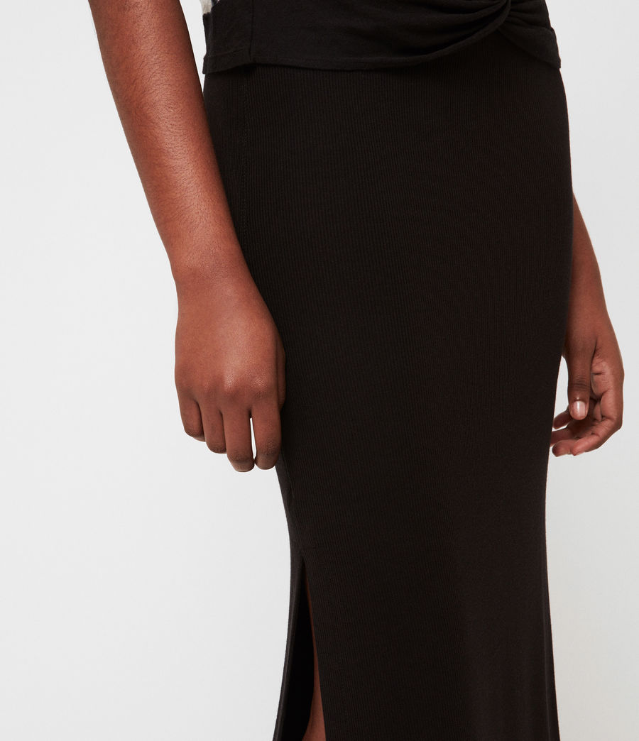 Womens Rina Maxi Skirt (black) - Image 4