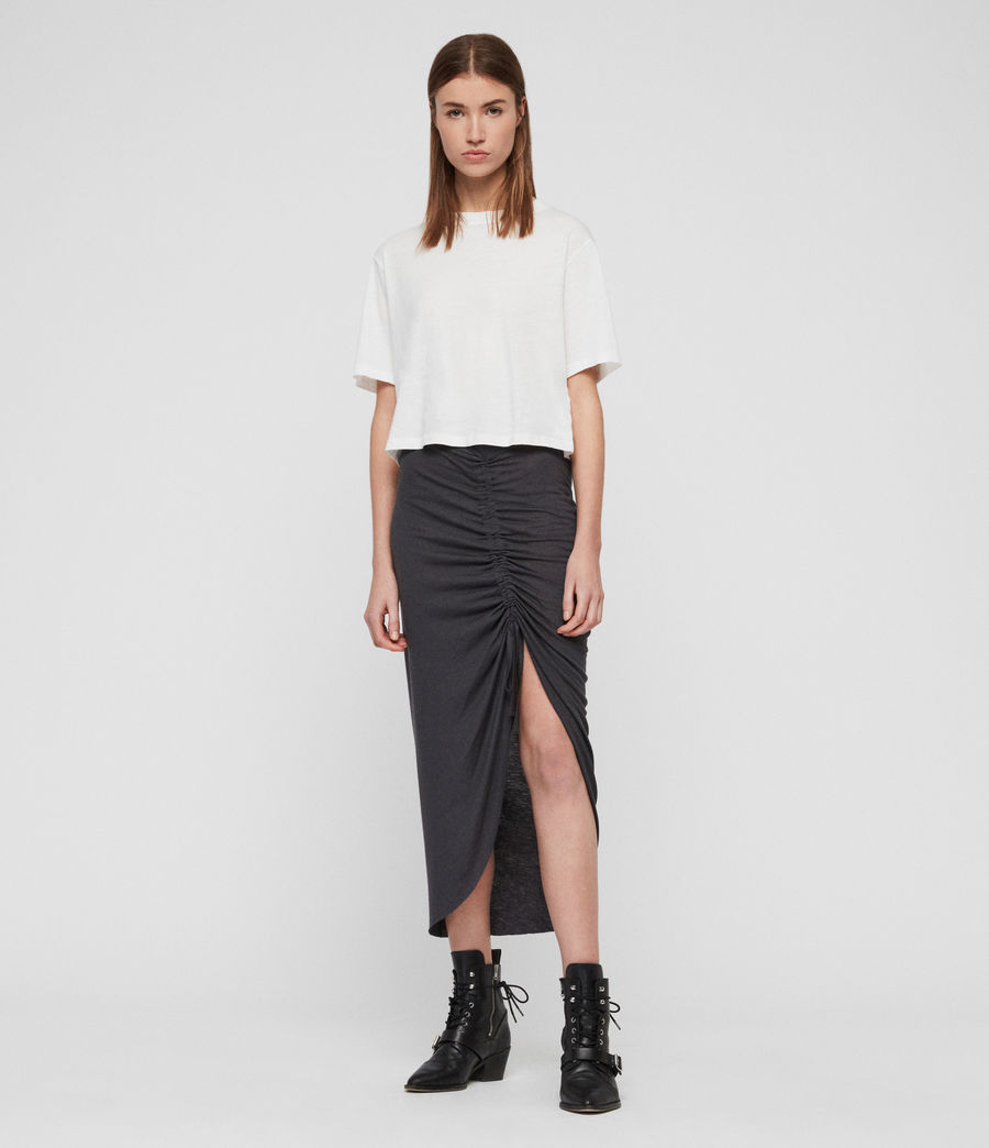 Womens Filor Skirt (washed_black) - Image 1