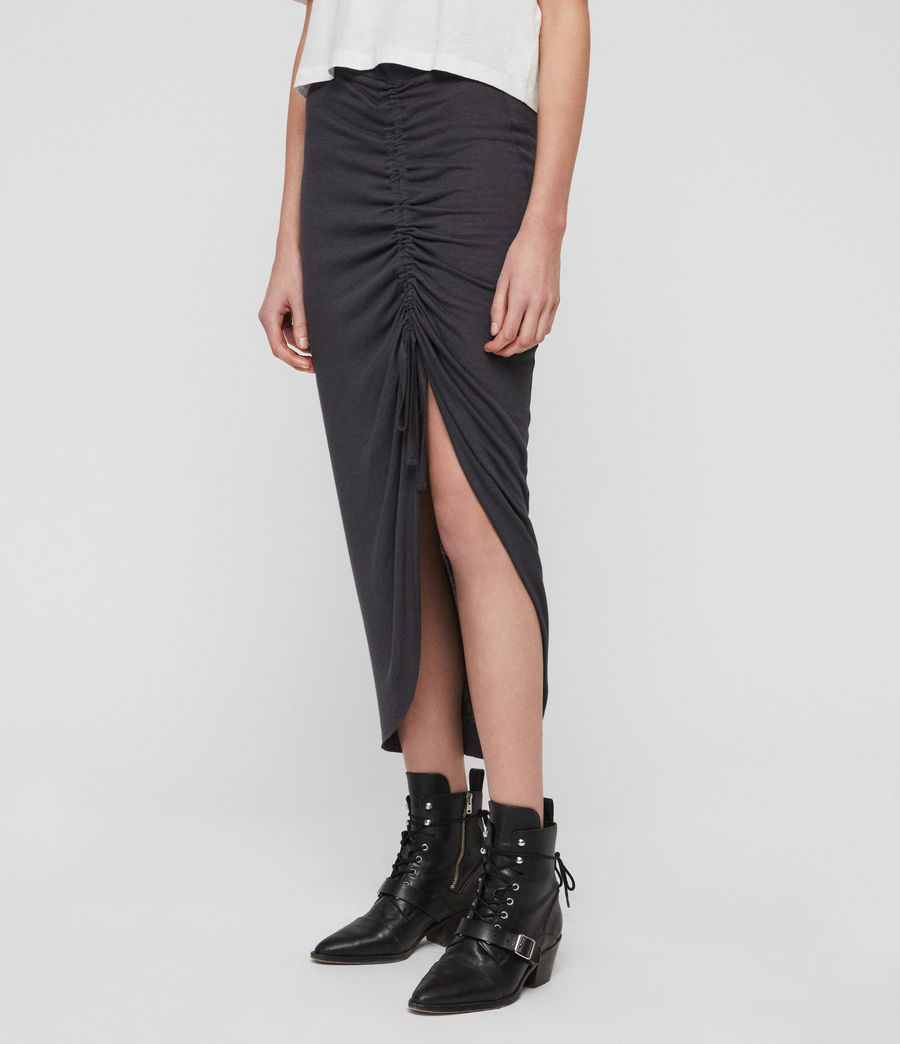 Womens Filor Skirt (washed_black) - Image 5