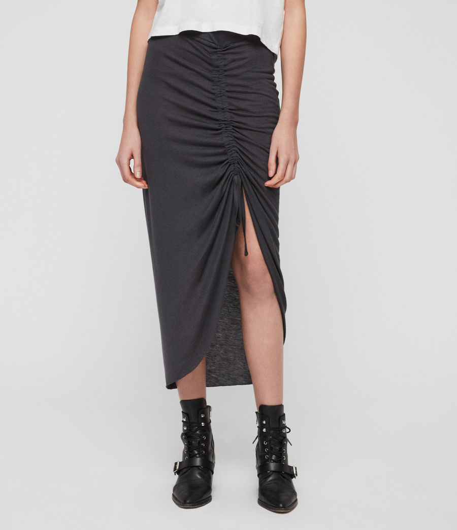 Womens Filor Skirt (washed_black) - Image 7