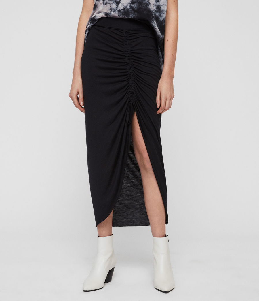 Womens Filor Skirt (black) - Image 4