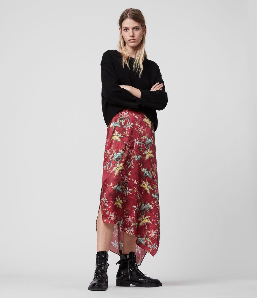Women's Rhea Silk Blend Evolution Skirt (red) - Image 1