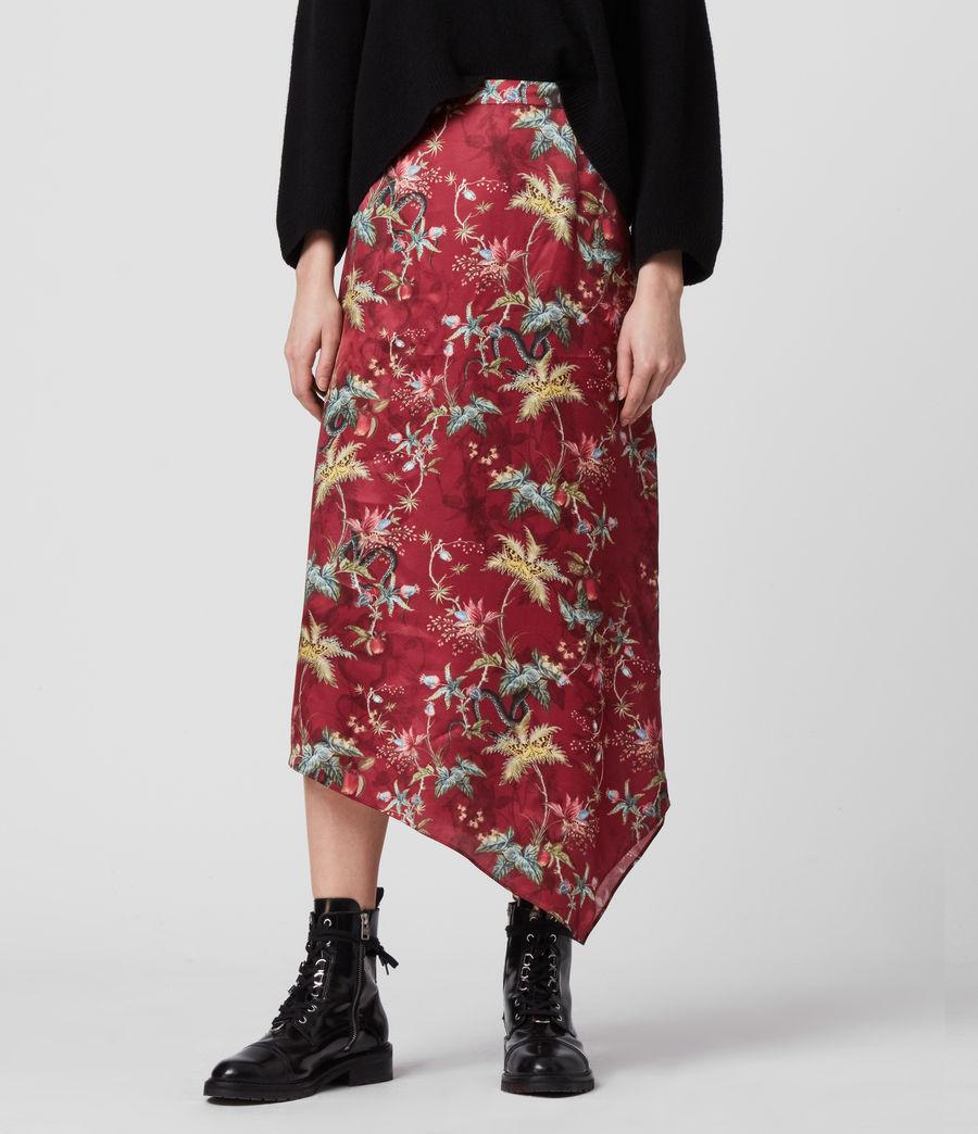 Women's Rhea Silk Blend Evolution Skirt (red) - Image 2