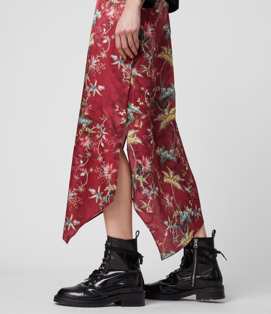 Women's Rhea Silk Blend Evolution Skirt (red) - Image 3