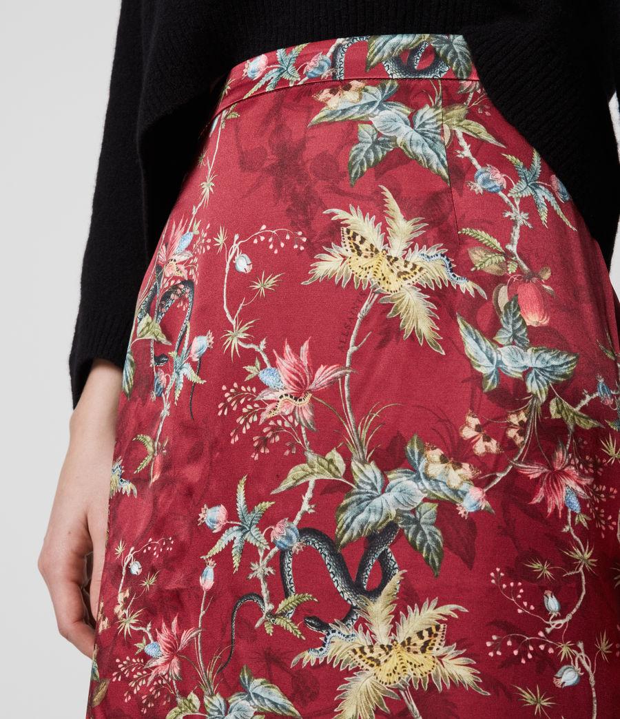 Women's Rhea Silk Blend Evolution Skirt (red) - Image 4