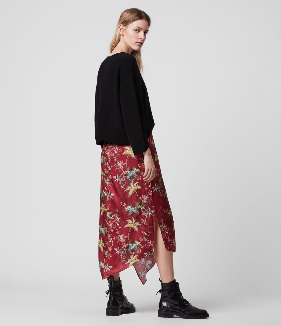 Women's Rhea Silk Blend Evolution Skirt (red) - Image 5