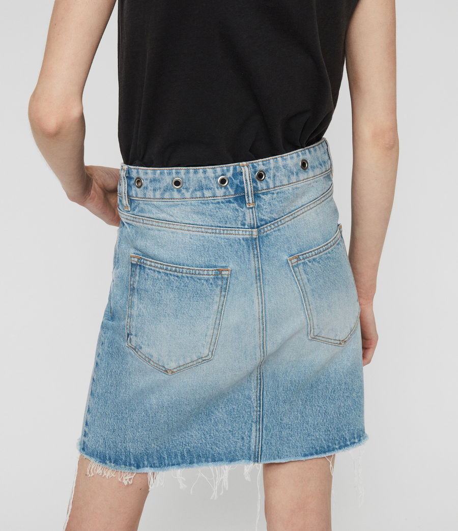 Womens Lila Eyelet Denim Skirt (light_indigo_blue) - Image 5