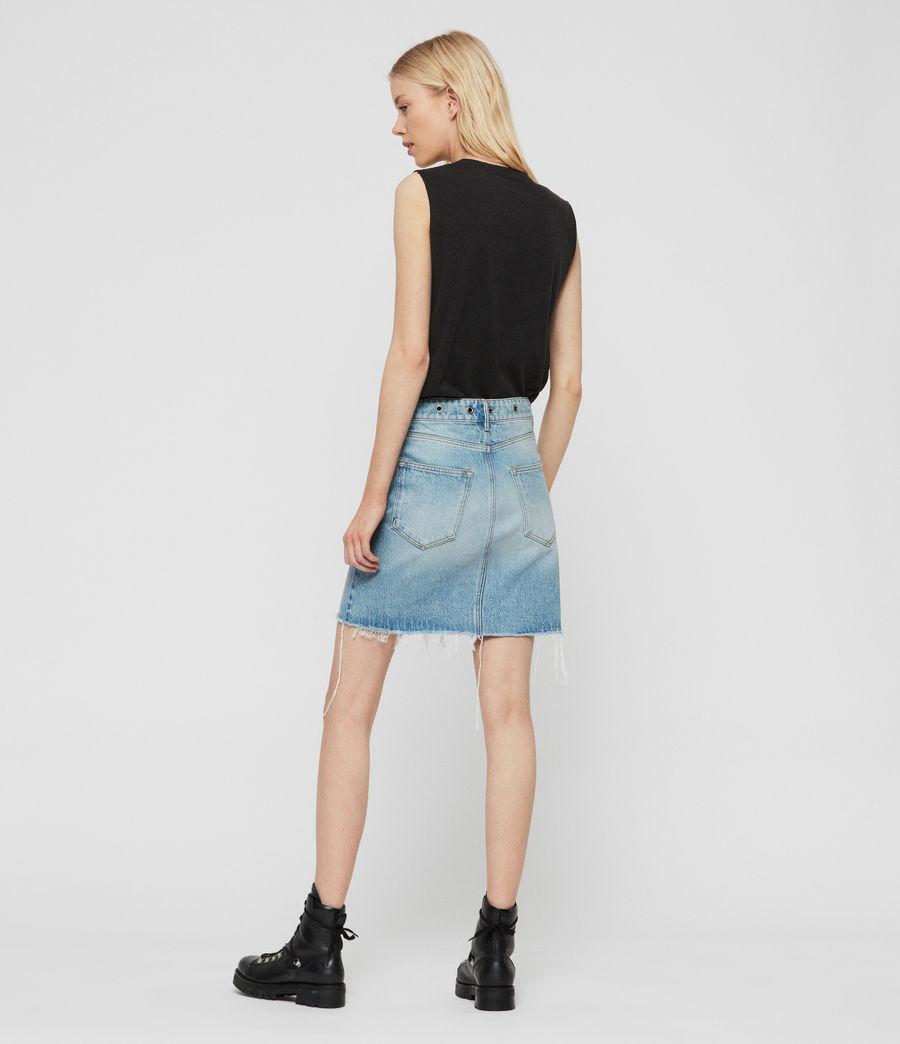 Womens Lila Eyelet Denim Skirt (light_indigo_blue) - Image 7
