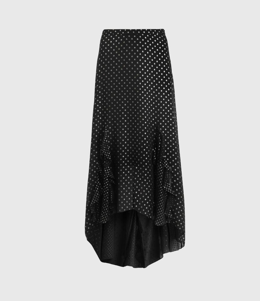 Women's Ilia Dot Skirt (black) - Image 2