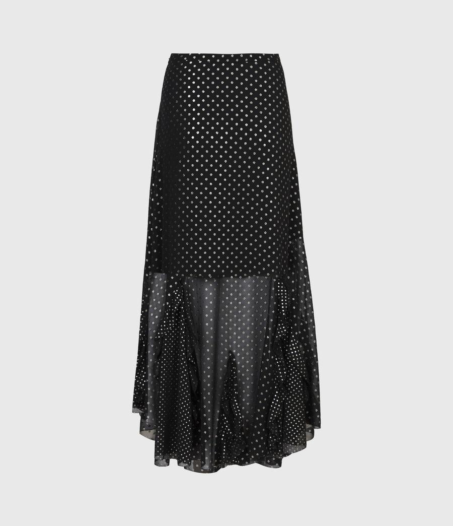 Women's Ilia Dot Skirt (black) - Image 3