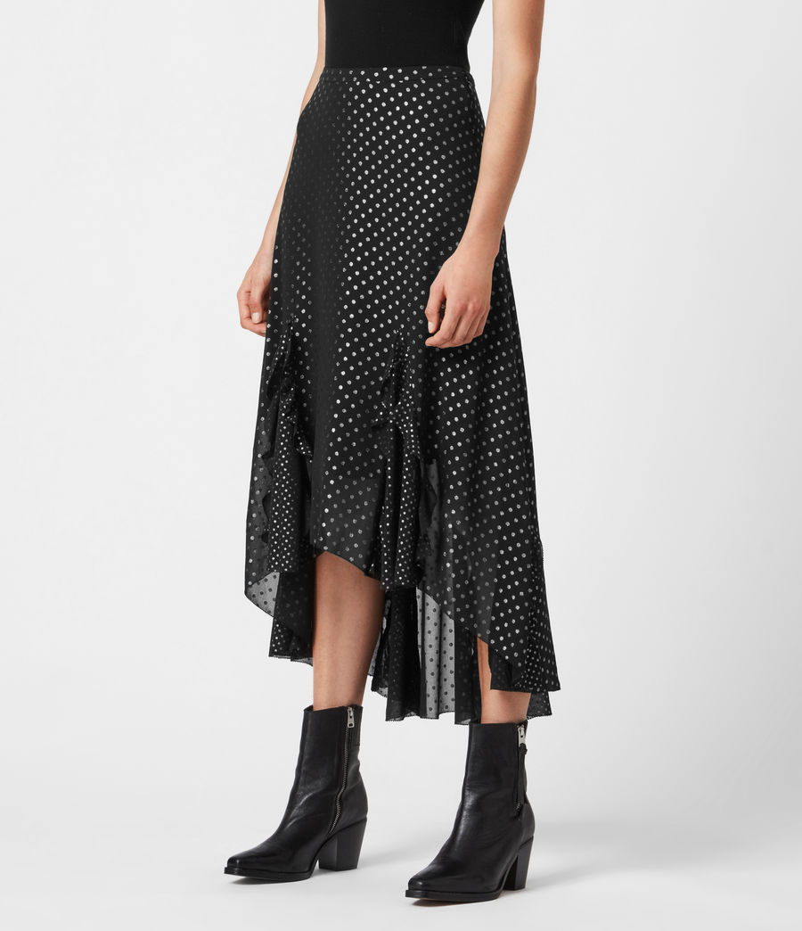Women's Ilia Dot Skirt (black) - Image 4