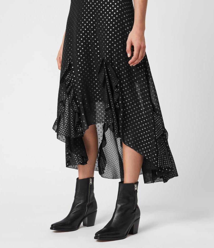 Women's Ilia Dot Skirt (black) - Image 6