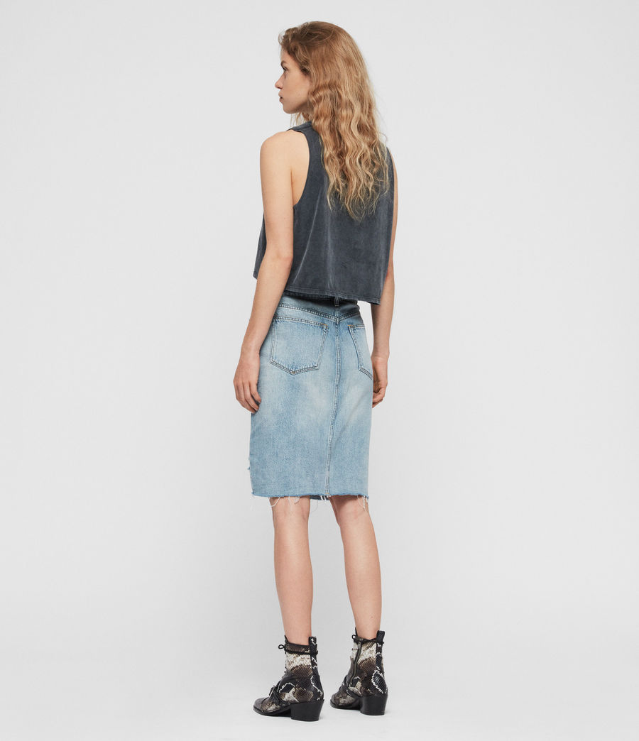 Womens Alfie Denim Skirt (indigo_blue) - Image 4