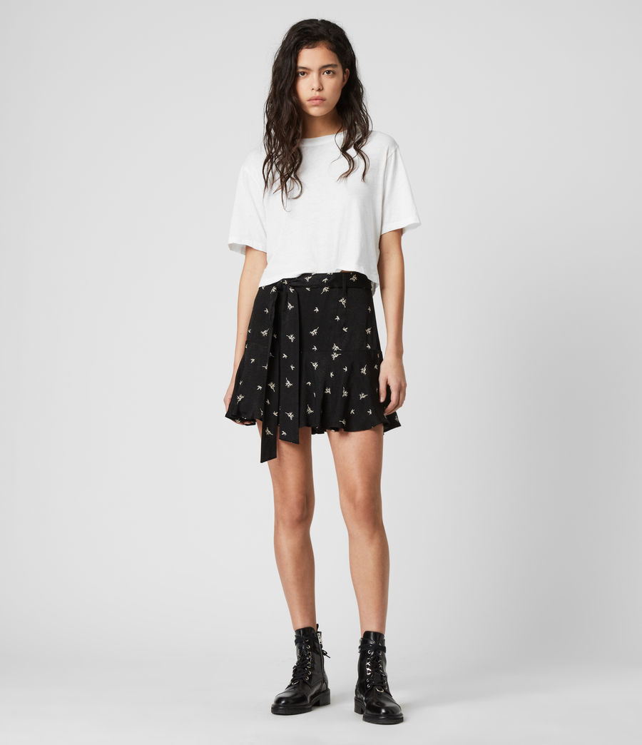 Womens Frida Bamboo Skirt (black) - Image 1