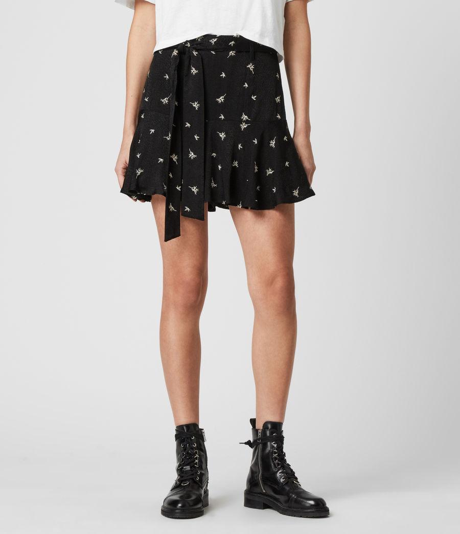 Mujer Frida Bamboo Skirt (black) - Image 4