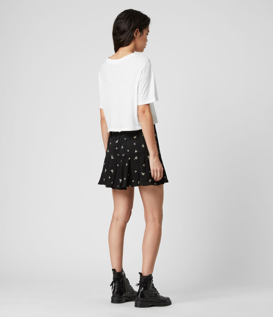 Womens Frida Bamboo Skirt (black) - Image 5