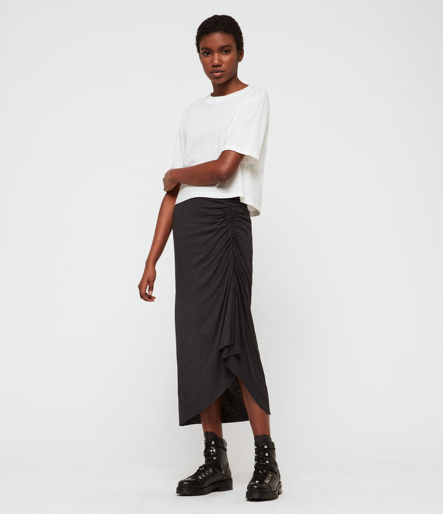 Womens Walla Skirt (washed_black) - Image 1