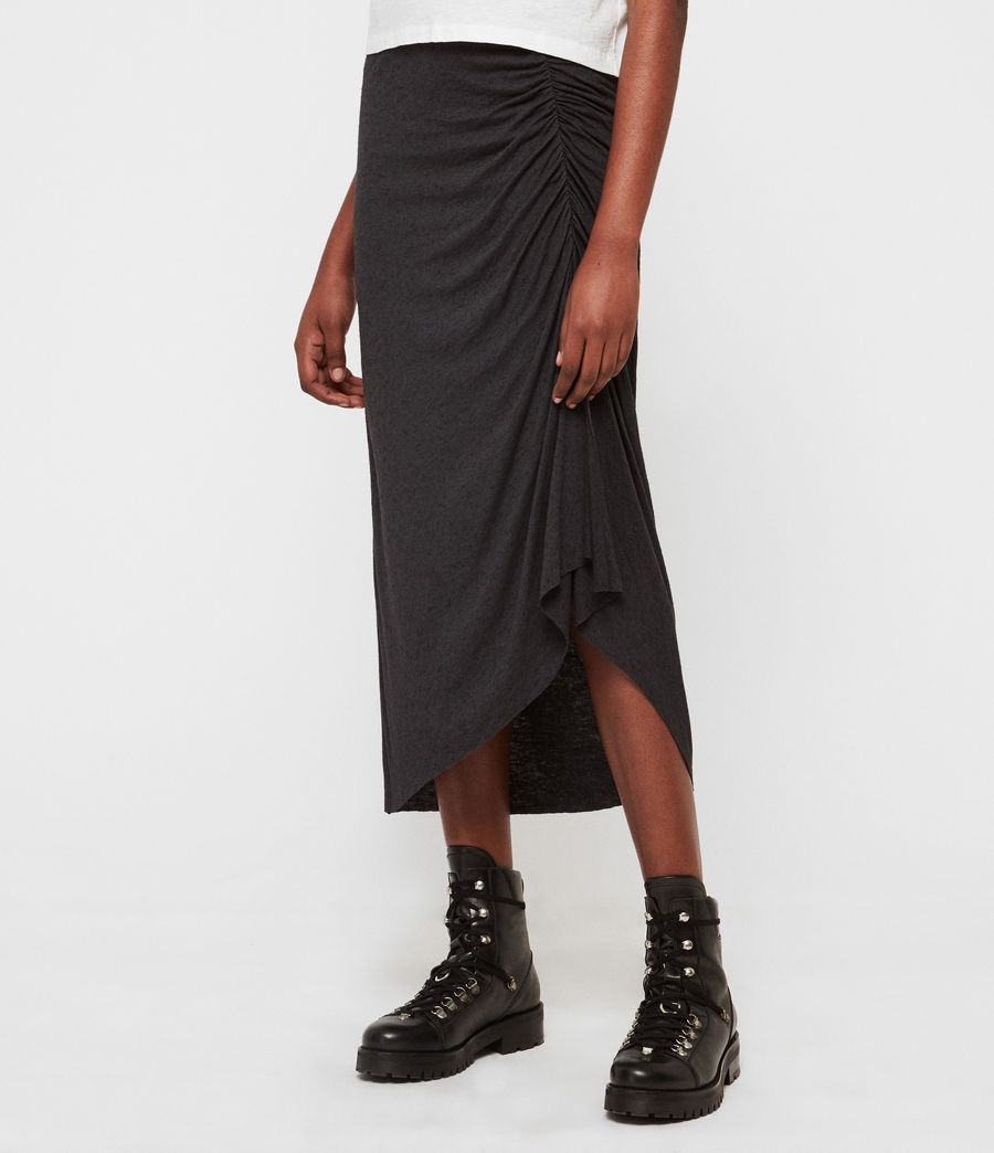 Womens Walla Skirt (washed_black) - Image 2
