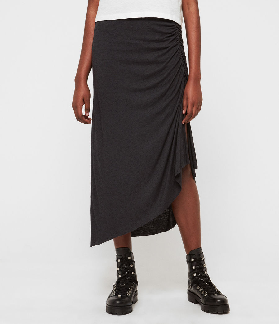Womens Walla Skirt (washed_black) - Image 5