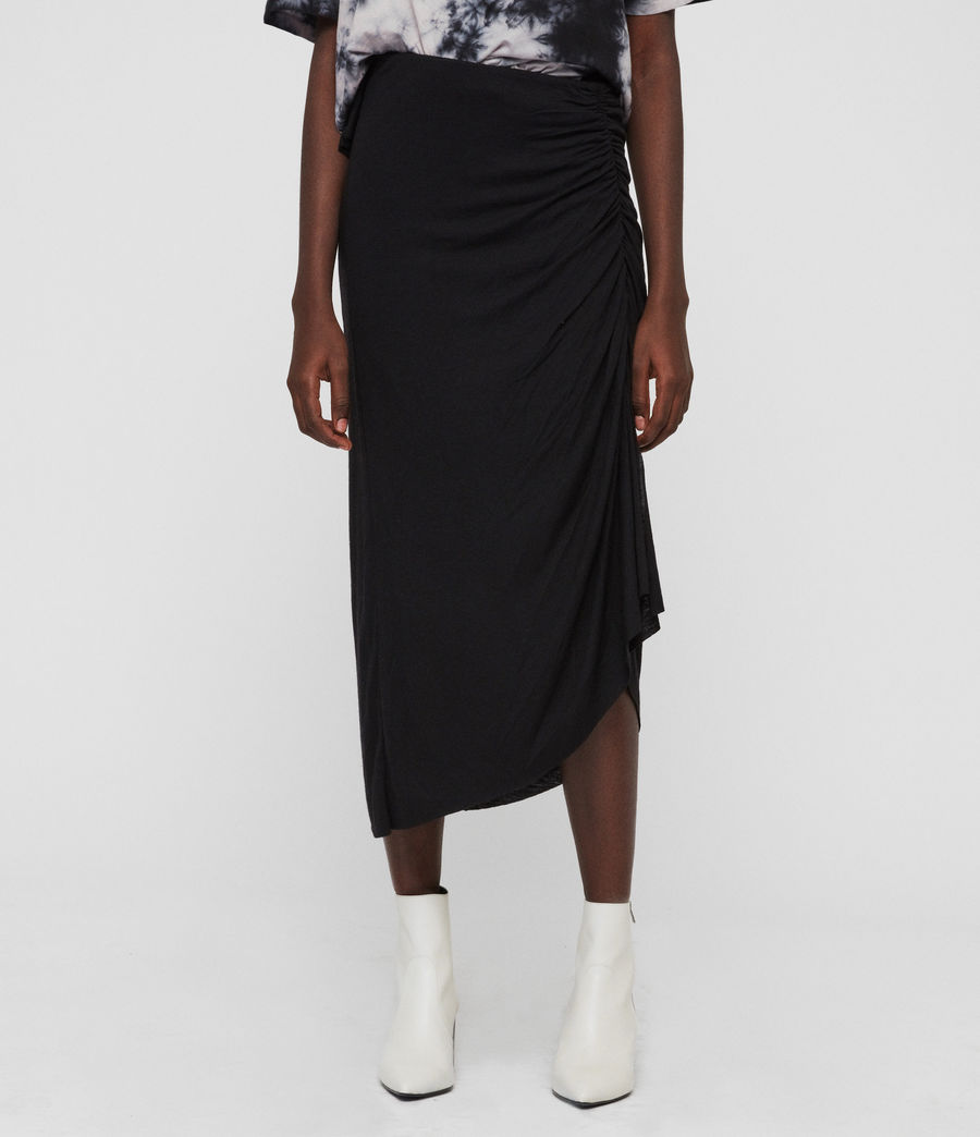 Womens Walla Skirt (black) - Image 3