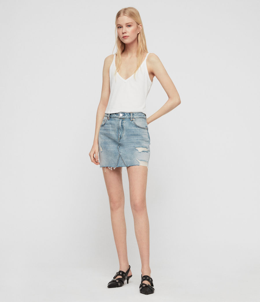 Womens Alex Denim Skirt (indigo_blue) - Image 2