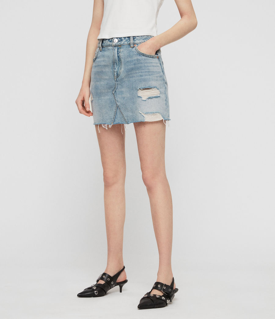 Womens Alex Denim Skirt (indigo_blue) - Image 3