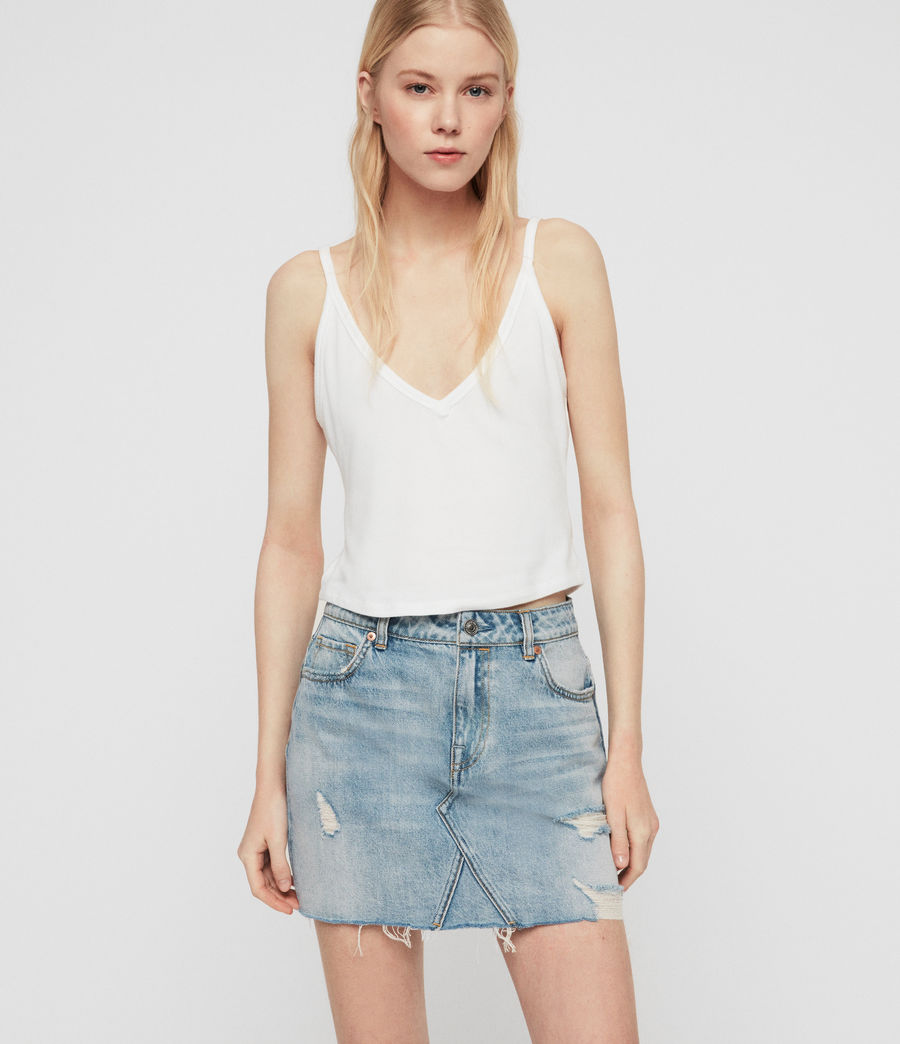 Women's Alex Denim Skirt (indigo_blue) - Image 4