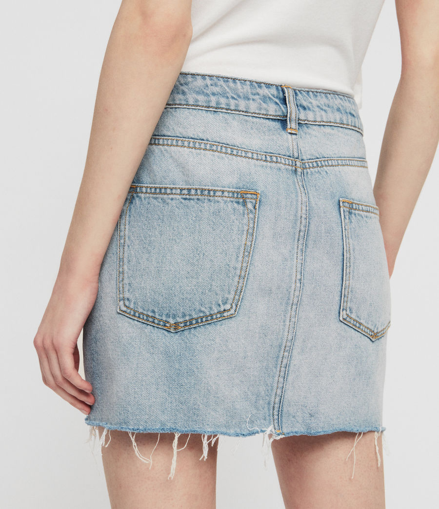 Women's Alex Denim Skirt (indigo_blue) - Image 6