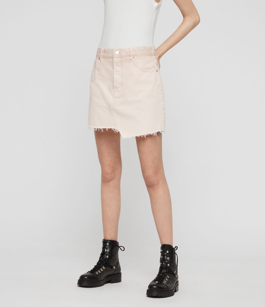 Women's Mai Denim Skirt (pale_pink) - Image 2