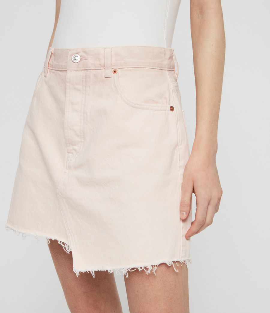 Women's Mai Denim Skirt (pale_pink) - Image 3
