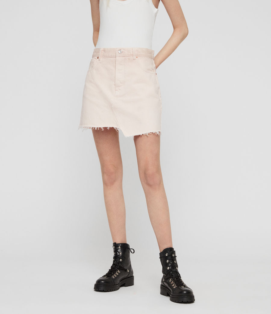 Women's Mai Denim Skirt (pale_pink) - Image 4