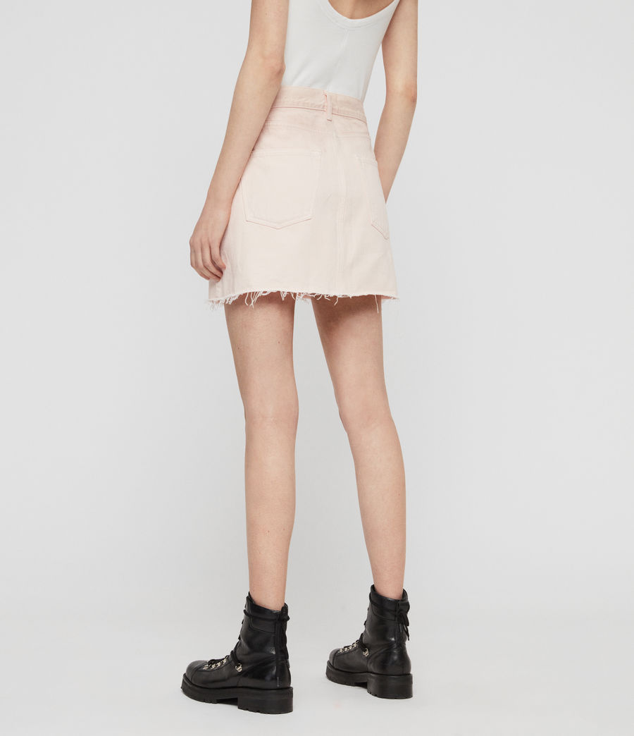 Women's Mai Denim Skirt (pale_pink) - Image 5