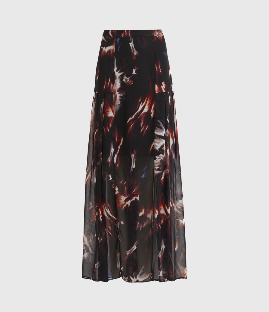 Womens Vivvie Flames Skirt (black) - Image 2