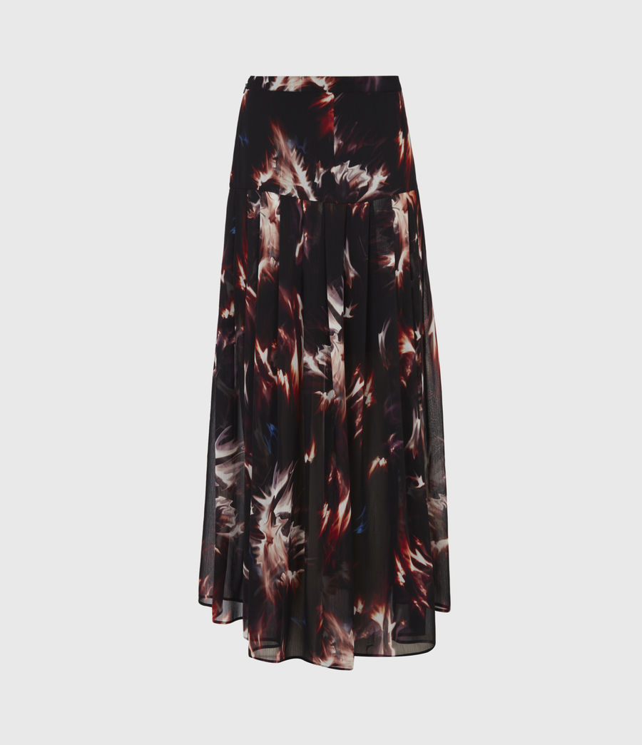 Womens Vivvie Flames Skirt (black) - Image 3