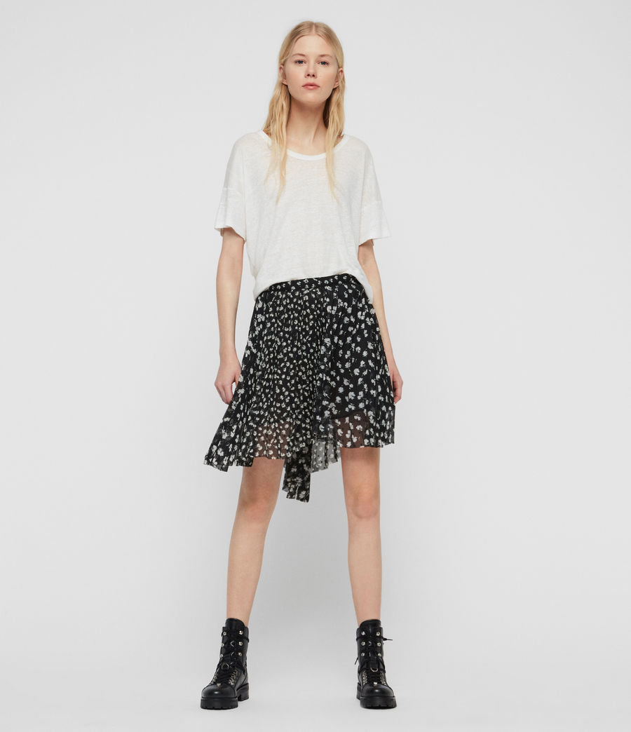 Womens Lea Scatter Skirt (black) - Image 1