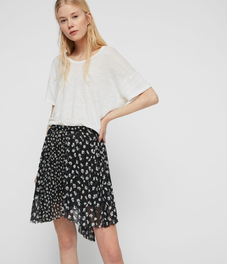 Womens Lea Scatter Skirt (black) - Image 2