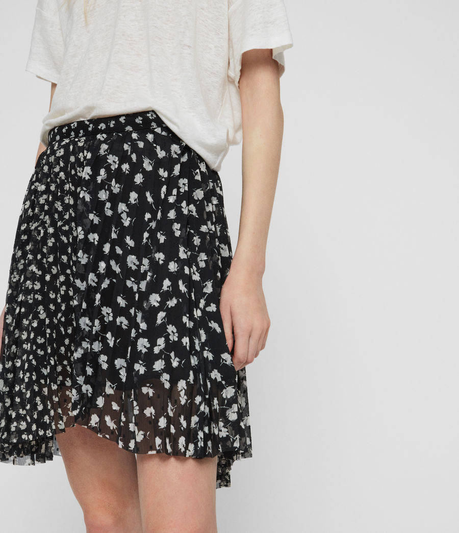 Womens Lea Scatter Skirt (black) - Image 3