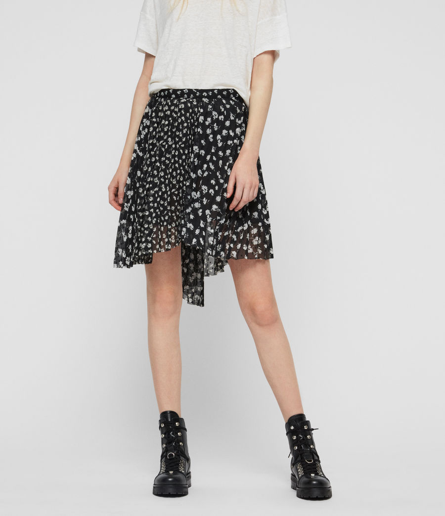 Womens Lea Scatter Skirt (black) - Image 4