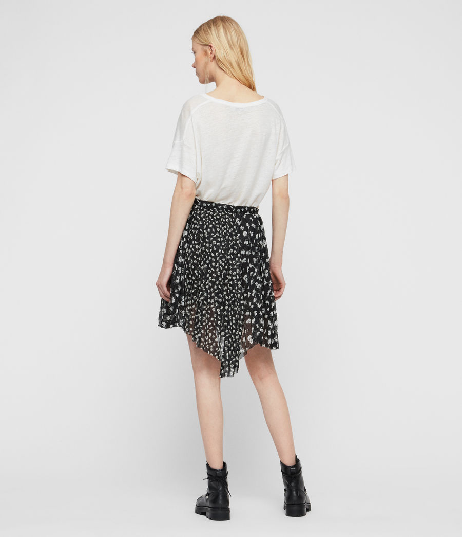 Womens Lea Scatter Skirt (black) - Image 5