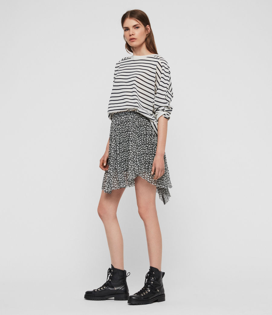 Womens Lea Scatter Skirt (grey) - Image 1