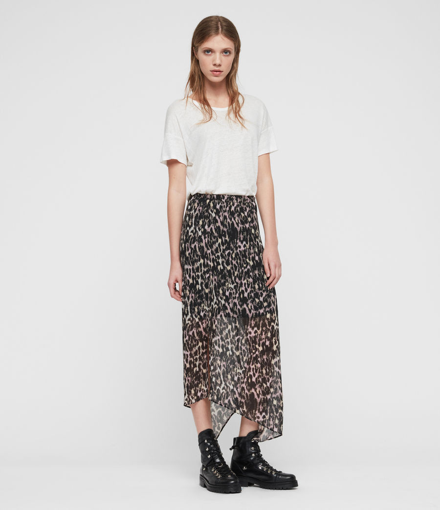 Womens Rhea Leopard Skirt (yellow) - Image 1