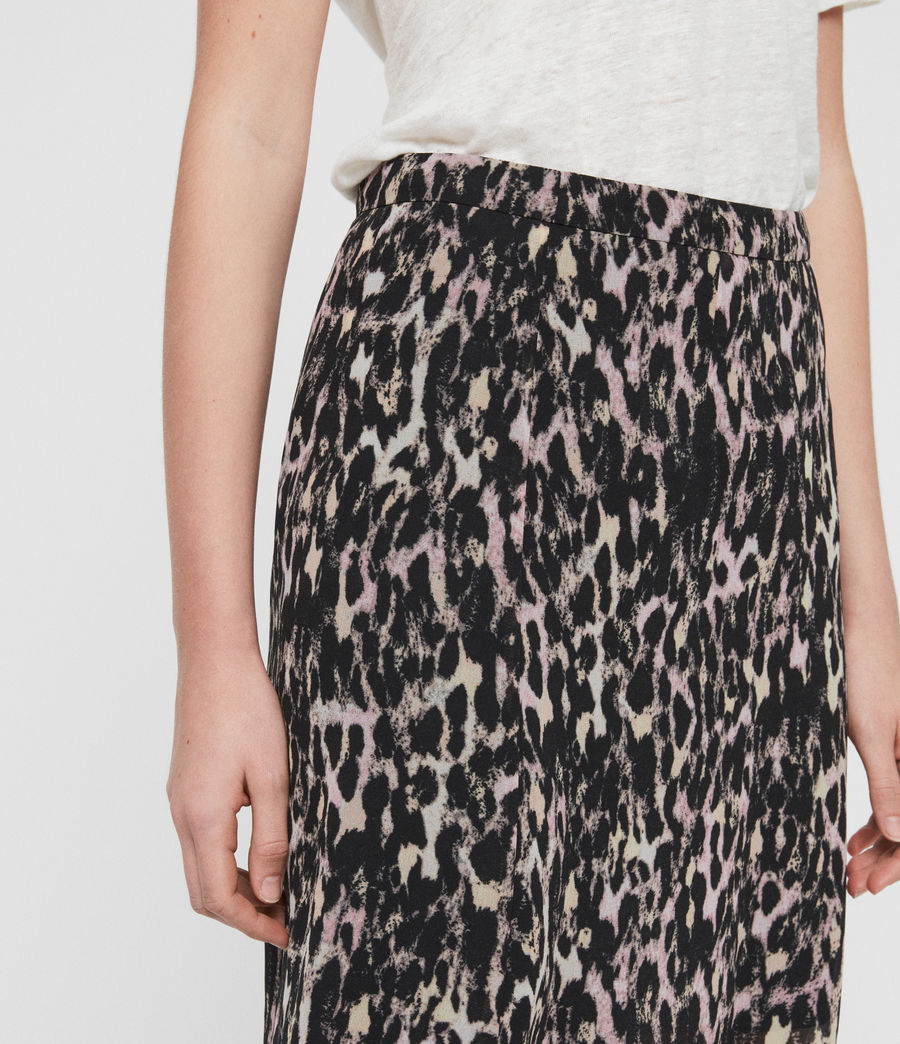 Women's Rhea Leopard Skirt (yellow) - Image 3