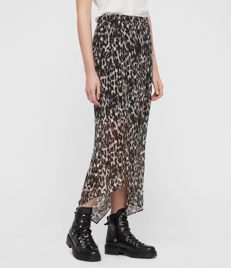 Women's Rhea Leopard Skirt (yellow) - Image 4