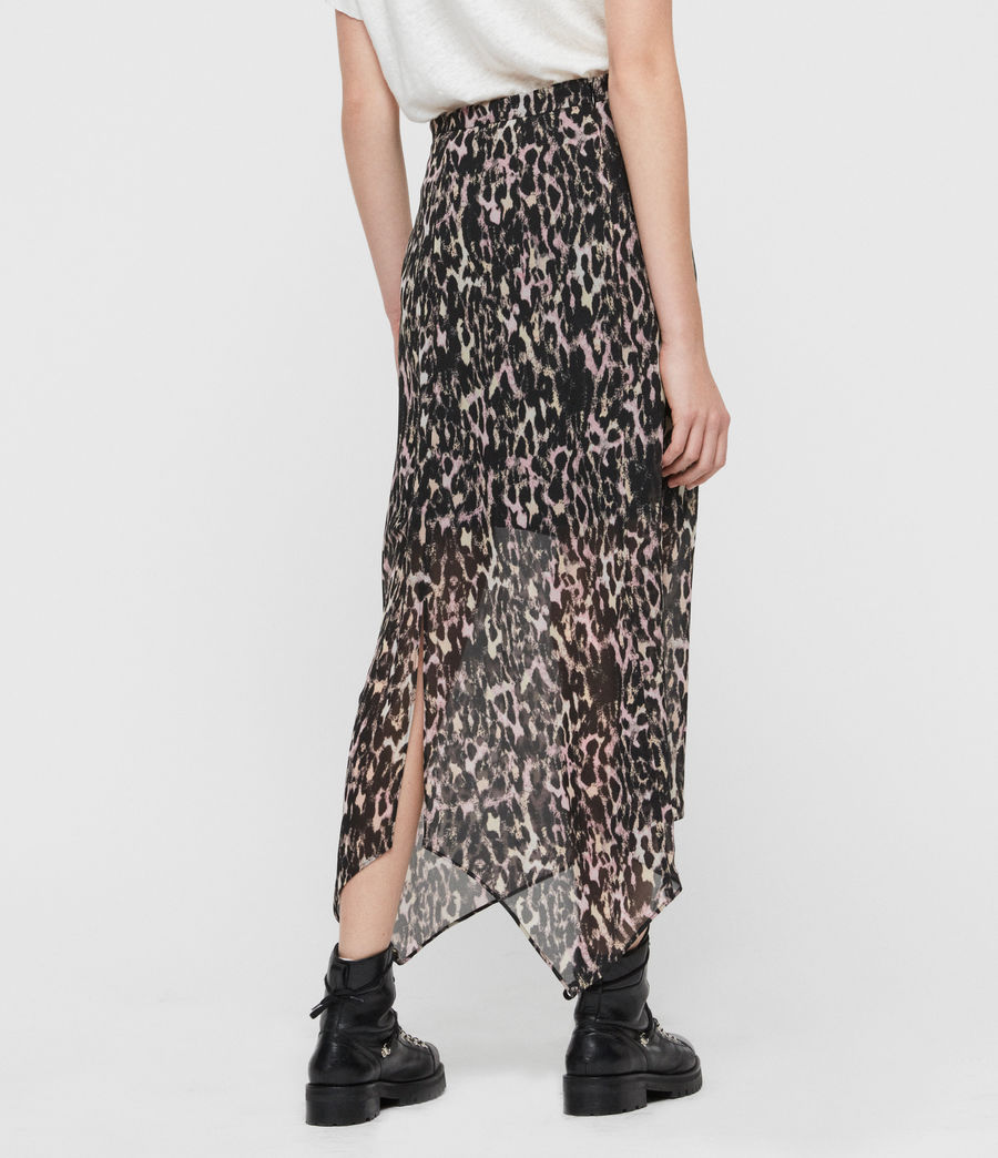Womens Rhea Leopard Skirt (yellow) - Image 5