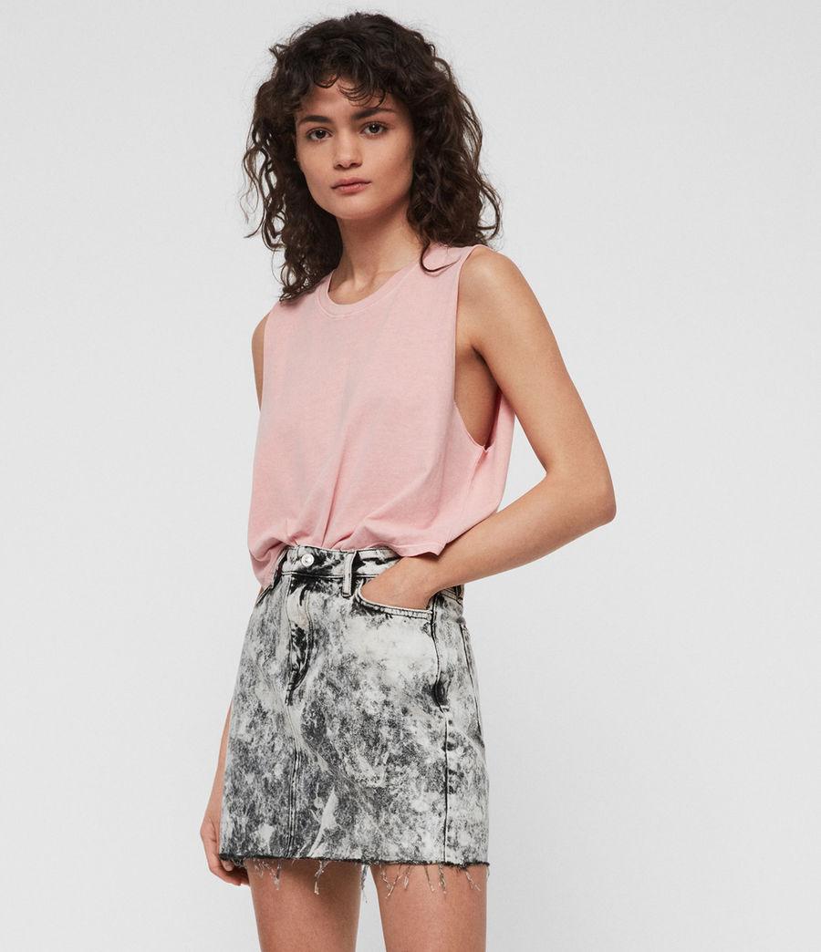 Womens Betty Denim Skirt (acid_washed_black) - Image 1