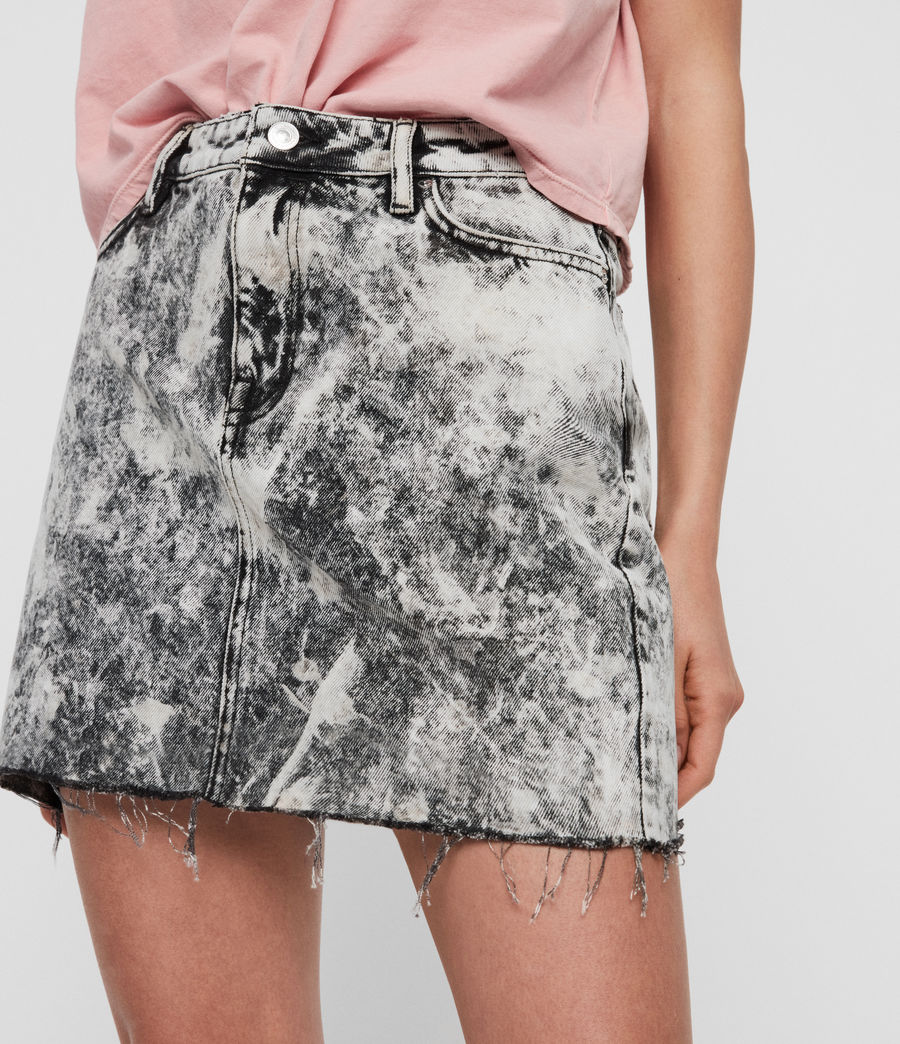 Womens Betty Denim Skirt (acid_washed_black) - Image 3
