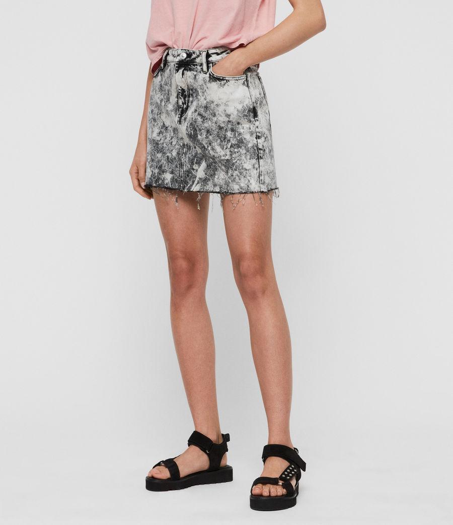 Womens Betty Denim Skirt (acid_washed_black) - Image 4