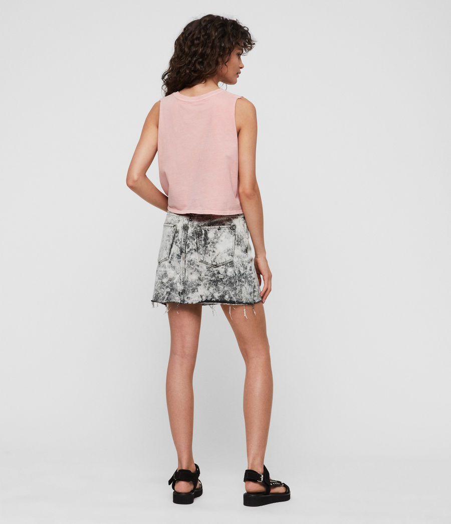 Womens Betty Denim Skirt (acid_washed_black) - Image 5