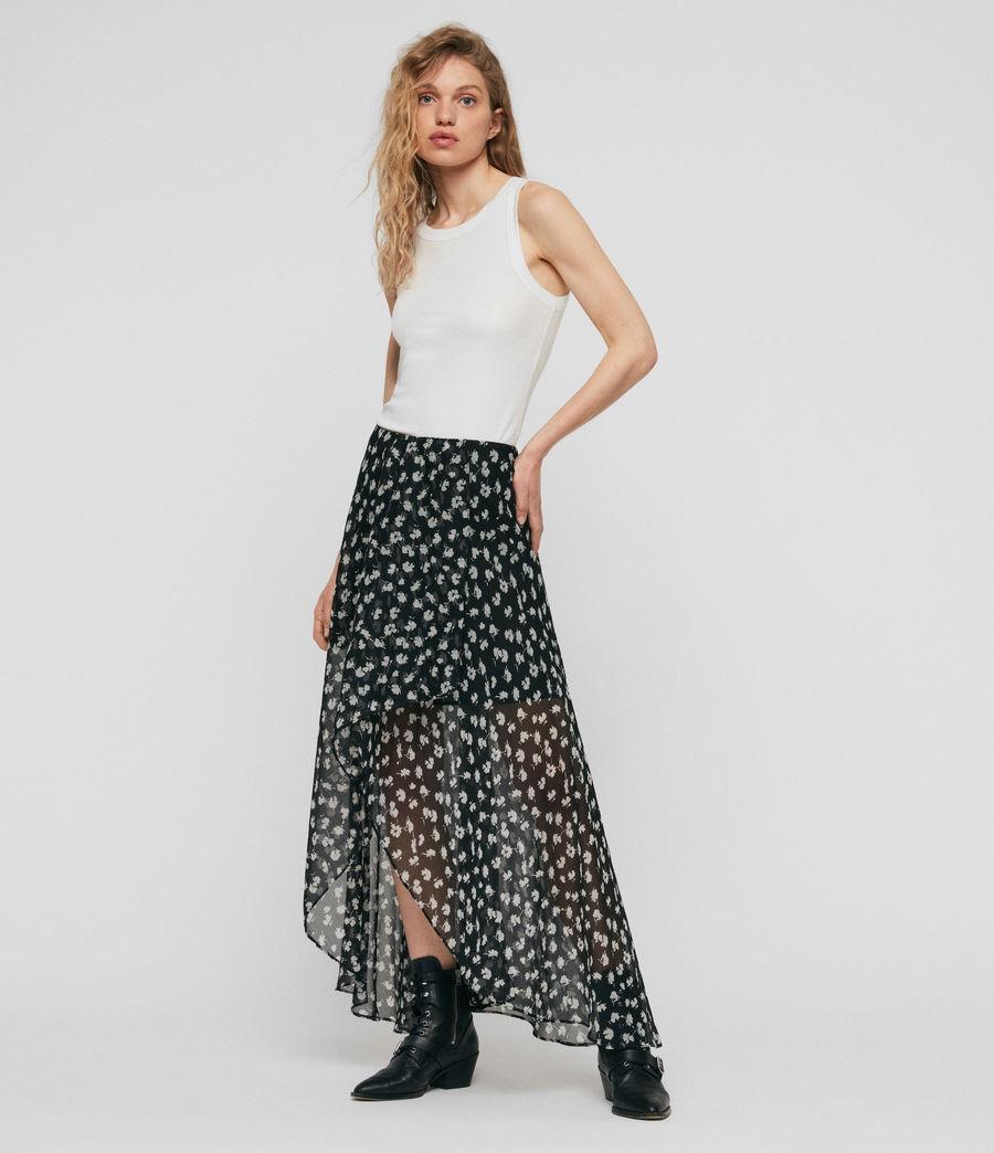 Womens Slvina Scatter Skirt (black) - Image 1